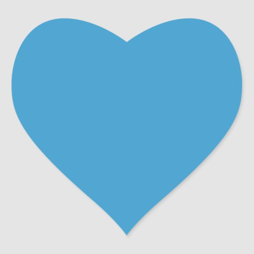Solid Color Background Blue 3399CC Template Heart Sticker