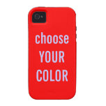 Solid Color Background Template Vibe iPhone 4 Cover