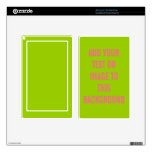 Solid Color Background Template Decals For Kindle Fire