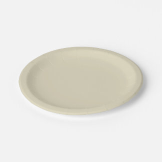Solid Color: Beige 7 Inch Paper Plate