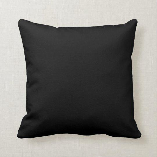 solid color black 000000 pillow template zazzle com