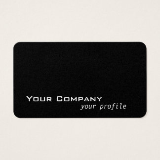 solid color black business card