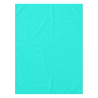 Wonderful Solid Color: Bright Aqua Tablecloth