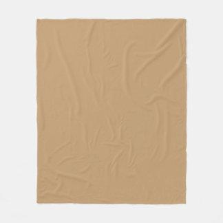 Solid Color: Camel Brown / Tan Fleece Blanket