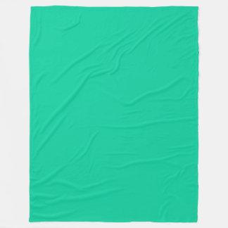 Solid Color: Caribbean Green Fleece Blanket