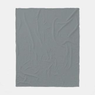 Solid Color: Charcoal Gray Fleece Blanket