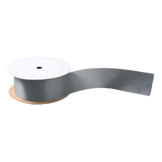 Solid Color: Charcoal Gray Satin Ribbon