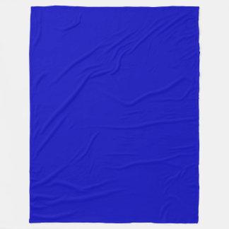 Solid Color Cobalt Blue Fleece Blanket