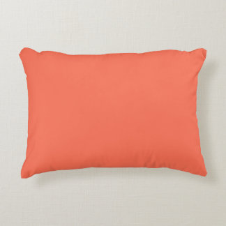 Solid Color: Coral Accent Pillow