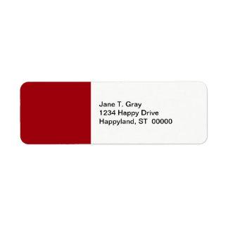 Solid Color: Cranberry Red Return Address Label