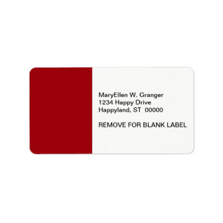 Solid Color: Cranberry Red Address Label