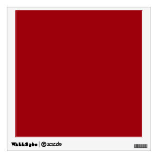 Solid Color: Cranberry Red Room Stickers