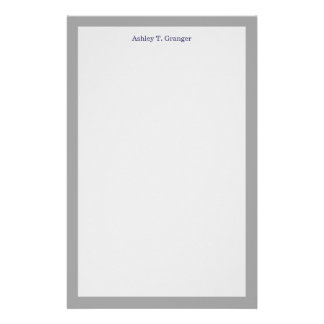 Solid Color: Dark Gray Stationery