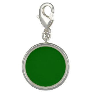 Solid Color Dark Green Charm Bracelets