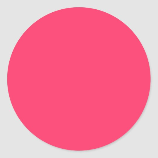 Solid Color FF3366 Pink Background Template Classic Round Sticker