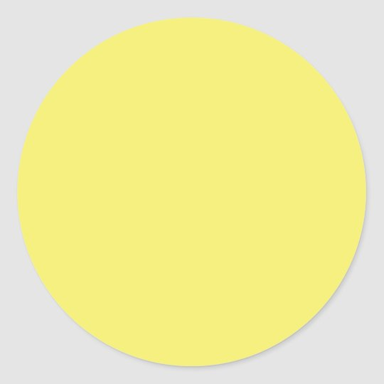Solid Color FFFF66 Yellow Background Template Classic Round Sticker