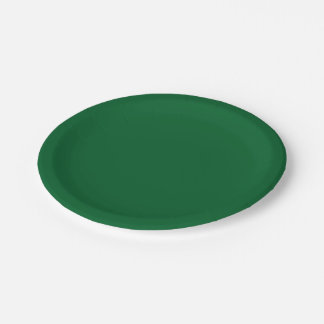 Solid Color: Forest Green Paper Plate