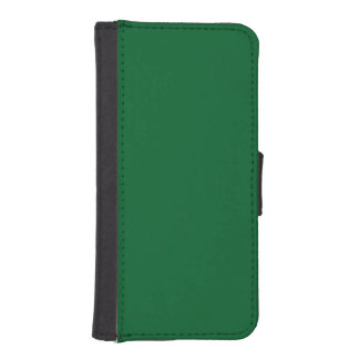 Solid Color: Forest Green iPhone 5 Wallets