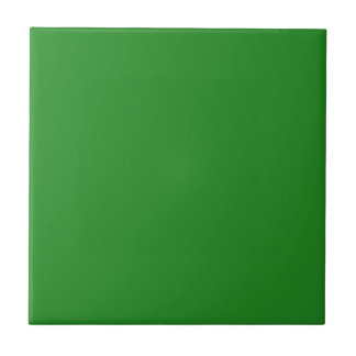 Solid Color Forest Green Small Square Tile