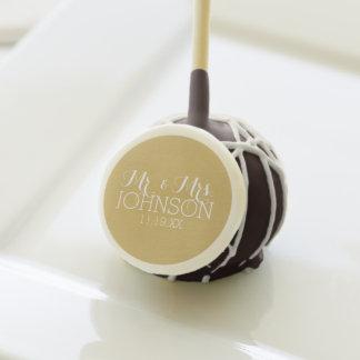 Solid Color Gold - Mr & Mrs Wedding Favors
