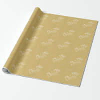 Solid Color Gold - Mr & Mrs Wedding Favors Wrapping Paper
