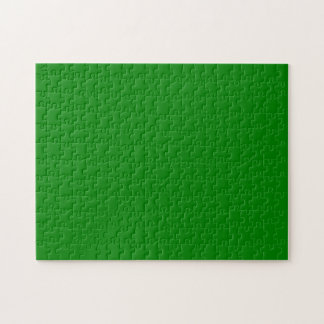 Solid Color Green Jigsaw Puzzle