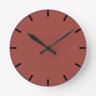 Solid Color Hot Apple Spice Wall Clock