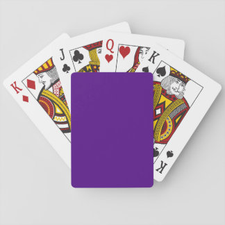 Solid Color Indigo Deck Of Cards