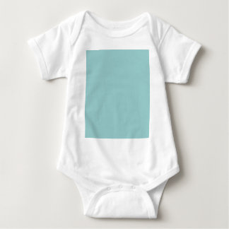 Solid Color Light Blue 99CCCC Background Baby Bodysuit