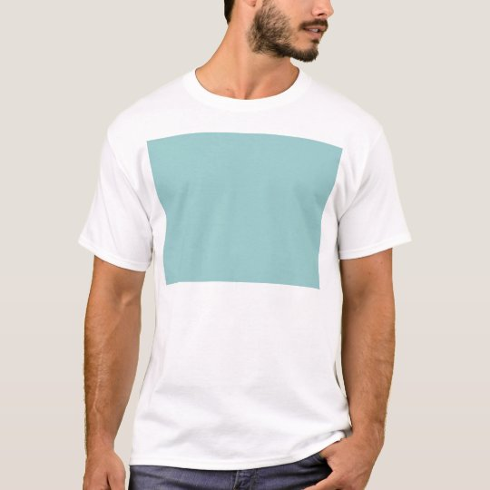 Solid Color Light Blue 99CCCC Background T-Shirt