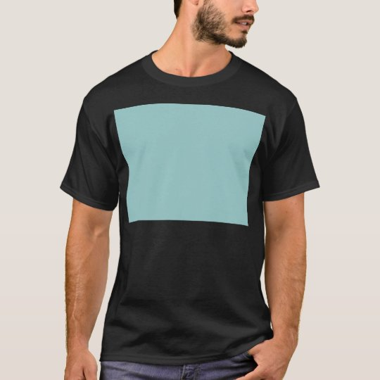Solid Color Light Blue 99CCCC Background T-Shirt