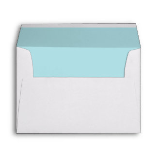 Solid Color Light Powder Blue Envelope