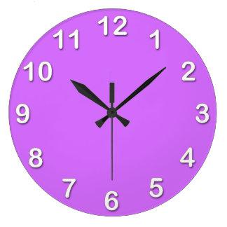 Solid Color: Lilac Purple Wall Clocks