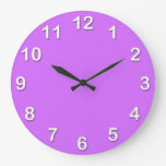 Solid Color: Lilac Purple Wall Clocks