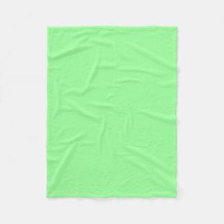 Mint Green Color mint green color fleece blankets   zazzle