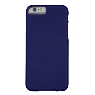 Solid Color: Navy Blue Barely There iPhone 6 Case
