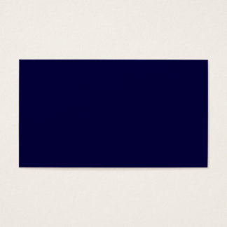 Solid Color: Navy Blue Business Card