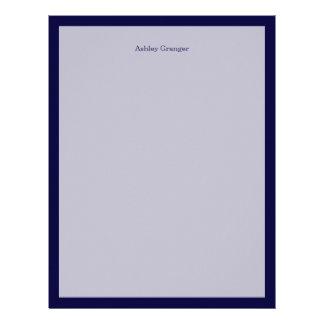 Solid Color: Navy Blue Letterhead