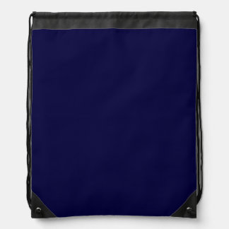 Solid Color: Navy Blue Cinch Bag