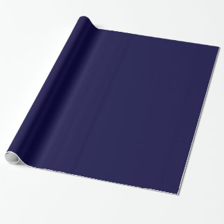 Solid Color: Navy Blue Wrapping Paper