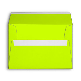 Solid Color Neon Yellow Envelopes