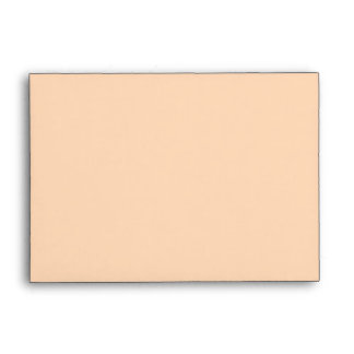 Solid Color Peach Puff Envelopes