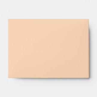 Solid Color Peach Puff Envelope