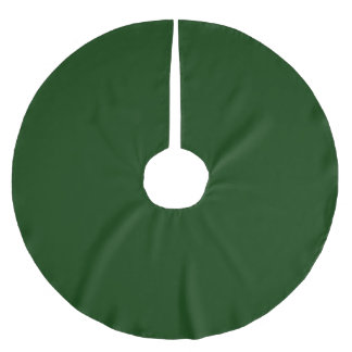 Solid Color Pine Green Brushed Polyester Tree Skirt