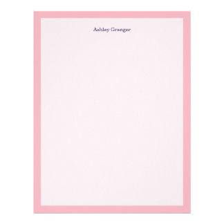 Solid Color: Pink Letterhead