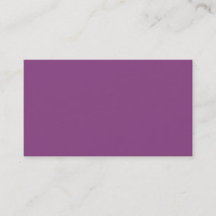 Solid Color Plum Purple Business Card