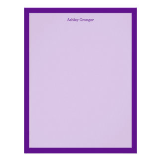 Solid Color: Purple Letterhead