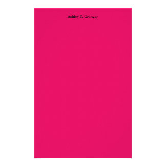 Solid Color: Raspberry Stationery