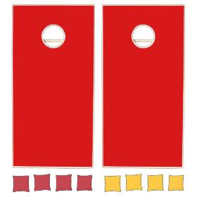 Solid Color: Red Cornhole Sets