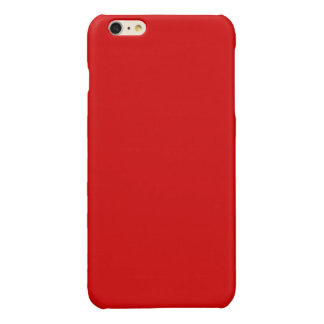 Solid Color: Red Glossy iPhone 6 Plus Case